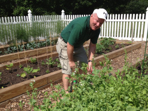 Fr. Dan Hall, CSV, who originated the Viatorian Community Garden to help feed local families