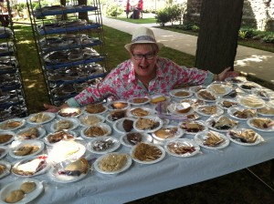 Susan at the pie table