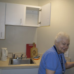 Sr. Marilyn Medinger, CND, will live on the women's floor and be a comforting presence.