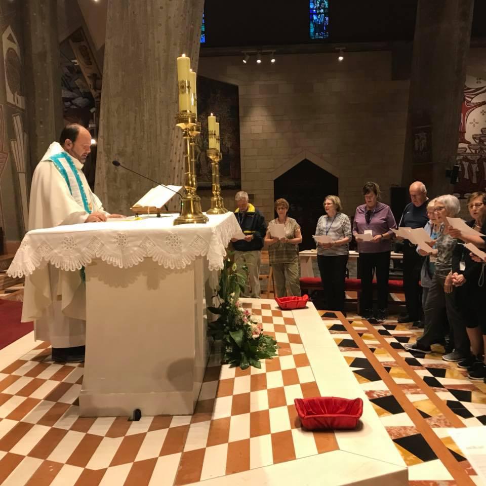circling the altar
