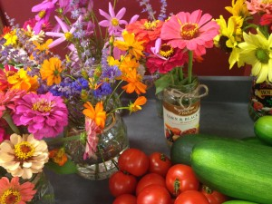 more flowers and veggies