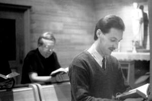 Fr. Robert Erickson and then novice, Br. Rob Robertson