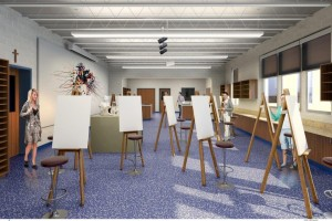 CSG596 141111 SVHS Proposed 2D Art Room rendering