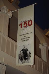 150-year banner