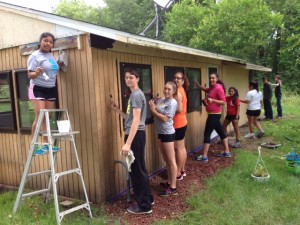 Painting at Reggie's and Brenda's camp