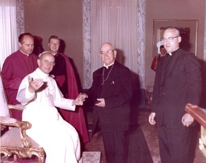 Fr. Ken Morris, CSV, during an audience with Pope Paul VI