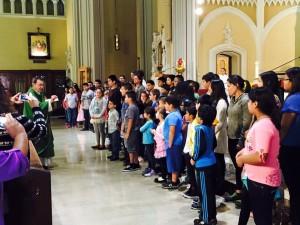 Render addressing religious ed students