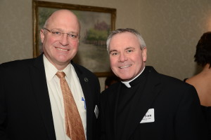 Fr. Thomas von Behren, right with Preston Kendall, president of CRSM