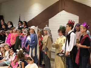 Religious education students at Maternity BVM bring the Christmas story to life