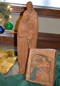 Woodcuttings depicting the nativity, acquired by Fr. John Brown