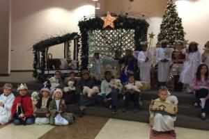 Children present a living nativity at St. Viator Catholic Community in Las Vegas