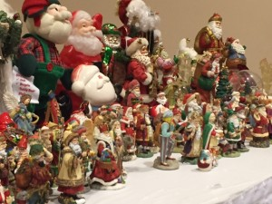 Santa collection of former Associate Pastor Fr. Wayne Dupuis, who passed away in 2004