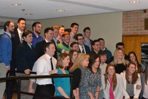 Classmates from Saint Viator High School joined in the celebration
