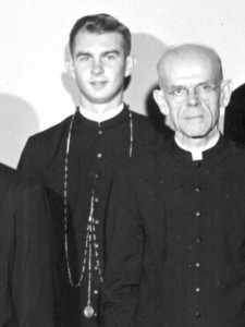 Fr. John Van Wiel, left, with his former Novice Master, Fr. William Cracknell