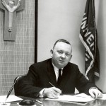 Br. Leo Ryan at his desk at Marquette University