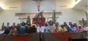 Parishioners at St. Viator Catholic Community in Las Vegas