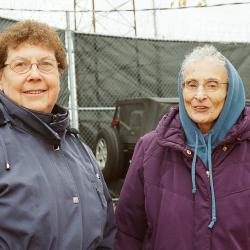 Sr. JoAnn Persch, RSM and Sr. Pat Murphy, RSM partner with the Viatorians in multiple social justice initiatives