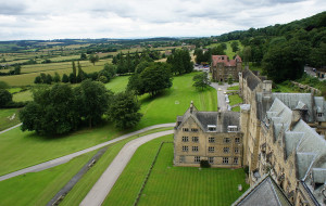 Ampleforth College looks out over 2,000 acres of land in North Yorkshire, England