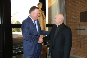 Fr. Dan Hall, CSV, will work closely with the new president, as the new vice president of Viatorian identity and mission