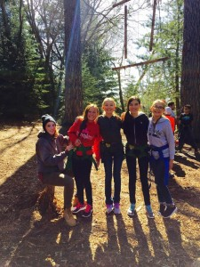 sixth graders loving nature