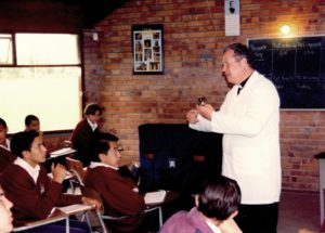 Fr. John Pisors teaching at Colegio San Viator