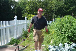 Associate John Dussman coordinated the garden ministry this year