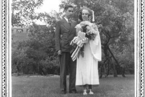 Br. William Sharp with his sister at her graduation in 1938 from St. Scholastica High School