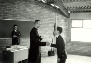 Fr. James Crilly, with a student at Colegio San Viator in Bogotá