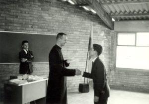 Fr. James Crilly, with a student at Colegio San Viator in Bogotá, circa 1967