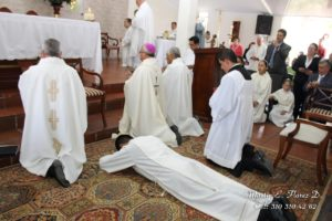 lying prostrate