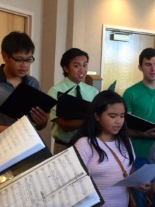 The teen choir began its rehearsals at St. Thomas More