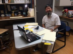 Mr. Sung, completing research in the Viatorian Archives