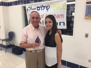 Holocaust survivor Steen Metz with his granddaughter, Sarah McDermott