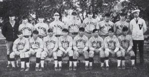 Jimmy Dalrymple, in first row far left, with the 1927 conference champs