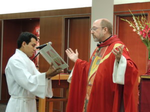 Fr. Mark Francis, during his inauguration liturgy as president of CTU