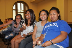Young Daisy Morales, far left, attends her first VYC in 2011 with classmates