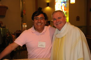 Associate Hector Obregon-Luna with Fr. Thomas von Behren, CSV