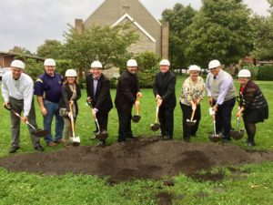 Members of the St. George Parish Council joined Viatorians in a ceremonial groundbreaking