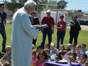 Fr. Bill Haesaert loves spreading the gospel with children
