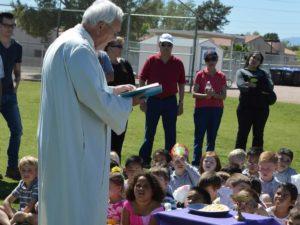 Fr. Bill Haesaert loves spreading the gospel with children