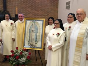 Viatorians celebrate the Feast of Our Lady of Guadalupe each year with the Missionaries of the Sacred Heart of Jesus and Our Lady of Guadalupe