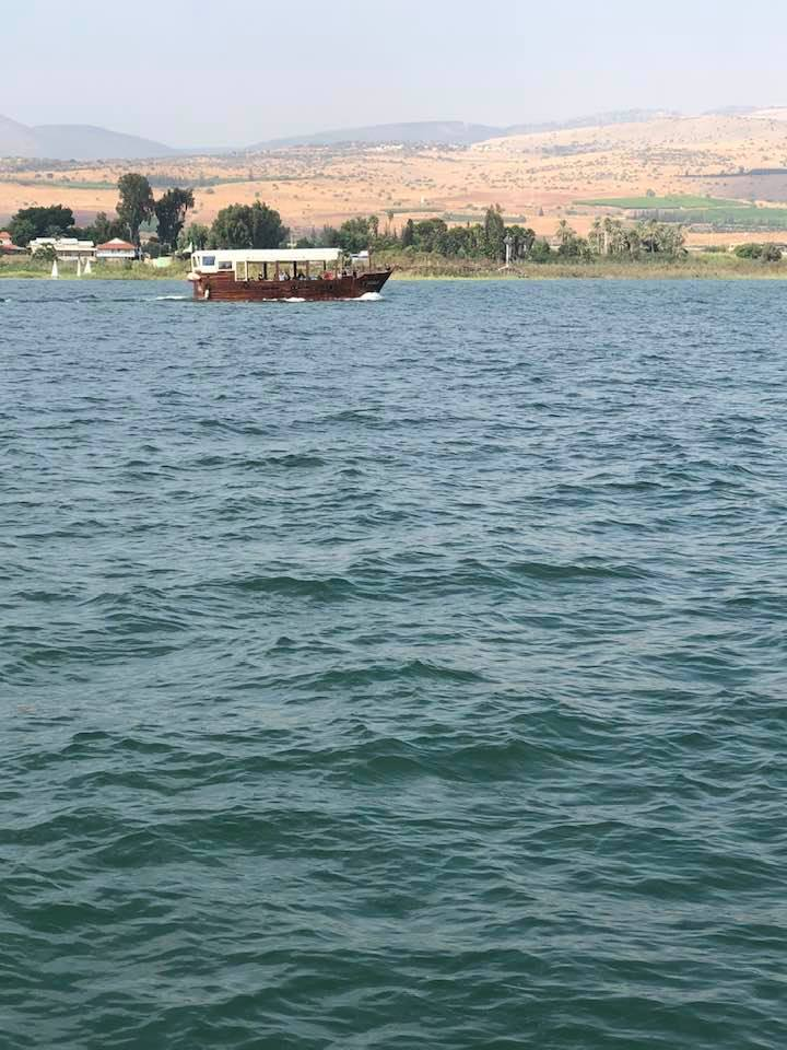 boat ride on Sea of Galilee