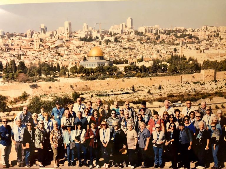 entire group in front of Old City, Jerusalem