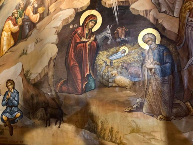 painting at church of the nativity