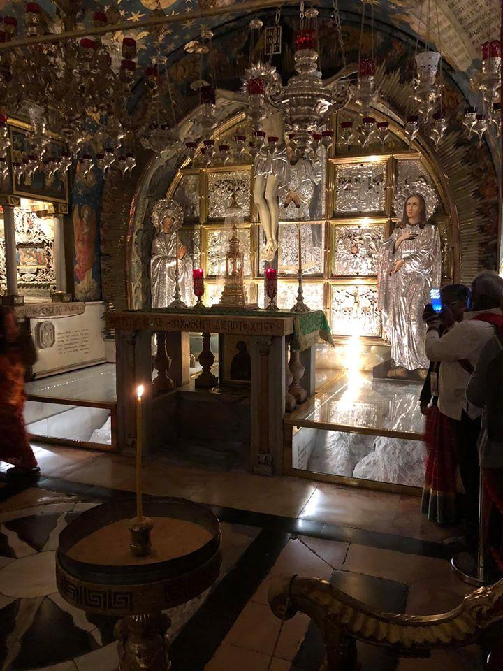spot where Jesus died on the cross